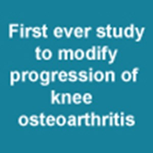 First ever study to modify progression of knee  osteoarthritis